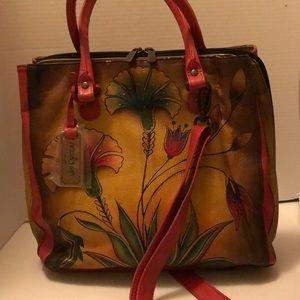 Anuschka Crossbody Or shoulder purse